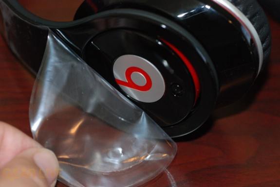 Beats by Dr. Dre headphones removing plastic