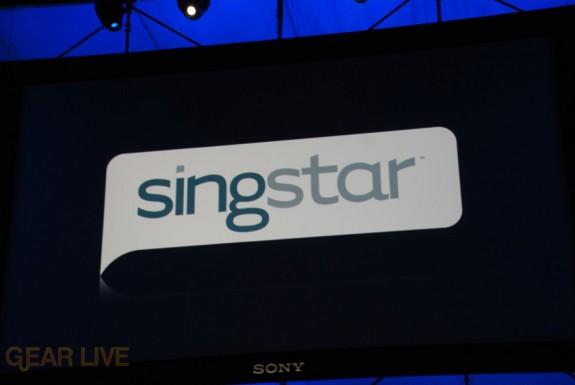 E308 Sony Briefing Singstar logo