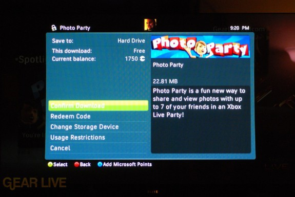 New Xbox Experience: Photo Party