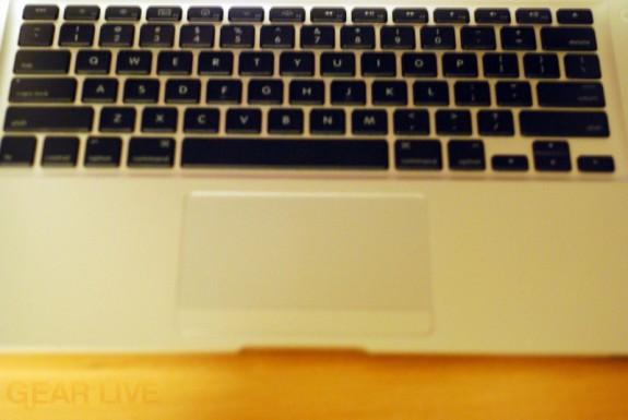 MacBook Air keyboard and trackpad