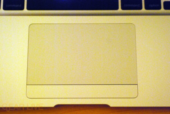 MacBook Air multitouch trackpad