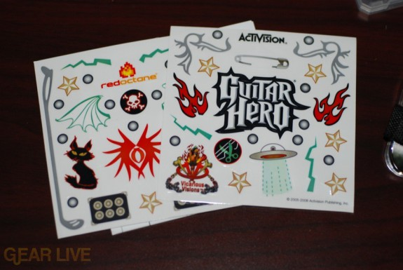 Guitar Hero: On Tour stickers