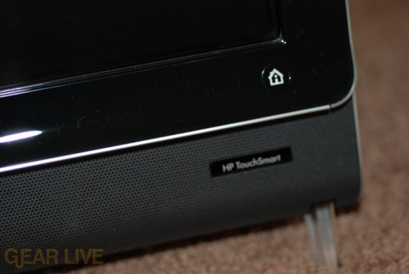 HP TouchSmart PC home button