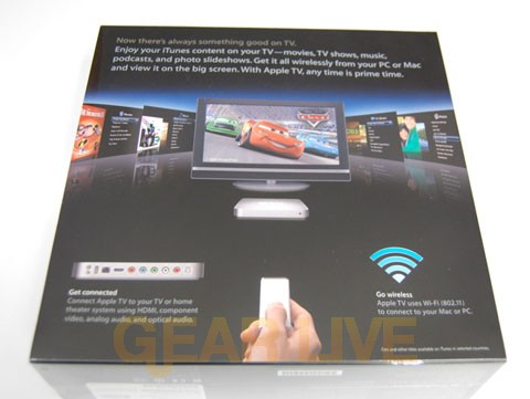 Back of Apple TV Box