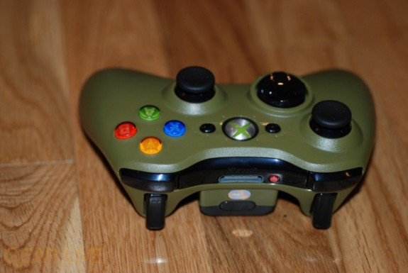 Halo 3 Xbox 360 Controller upside down view