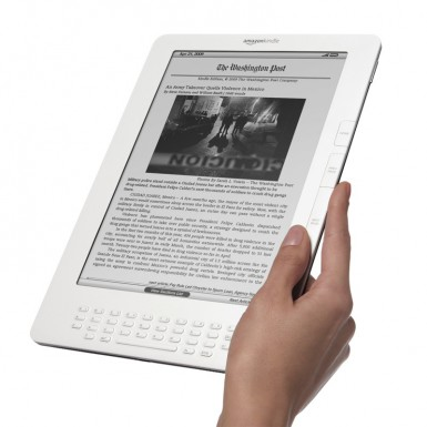 Kindle DX being held