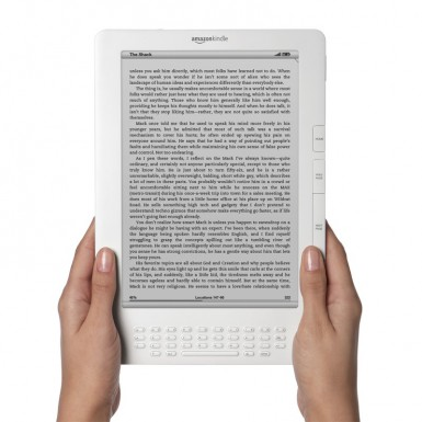 Kindle DX screen text