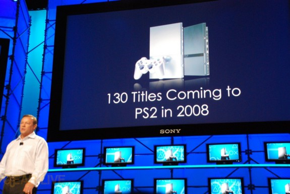 E308 Sony Briefing PS2 130 titles in 2008