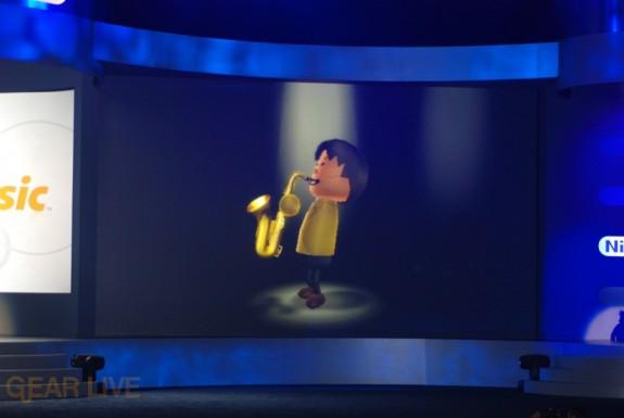 Nintendo E3 08: Wii Music Miyamoto Saxophone