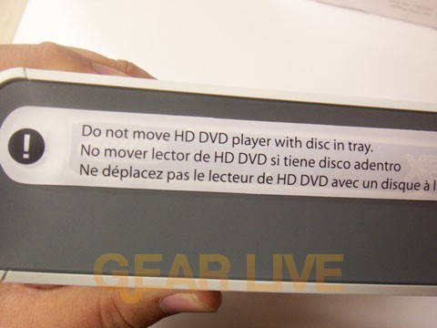 HD DVD Player Warning