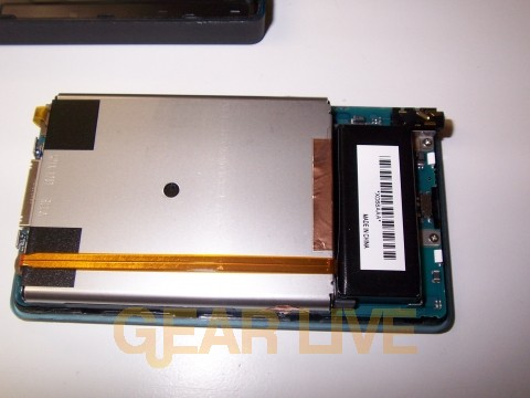 Back Casing of Zune Removed