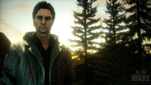 Alan Wake walking in daylight