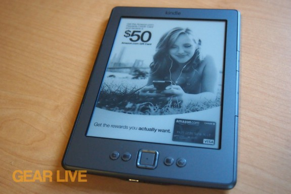 Amazon Kindle 4 special offer screen