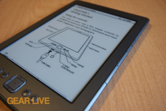 Amazon Kindle 4 setup page