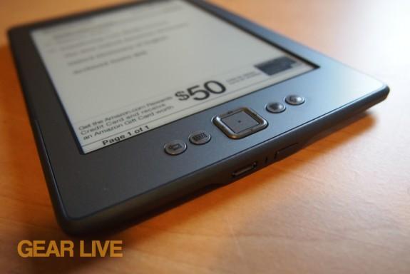 Amazon Kindle 4 navigation buttons