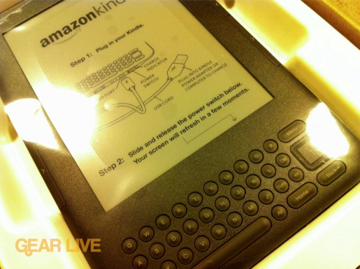 Amazon Kindle 3 close in-box