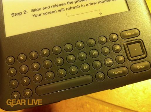 Amazon Kindle 3 keyboard