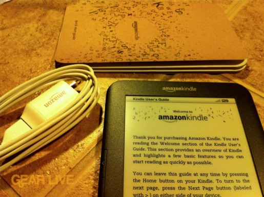 Amazon Kindle 3 unboxed