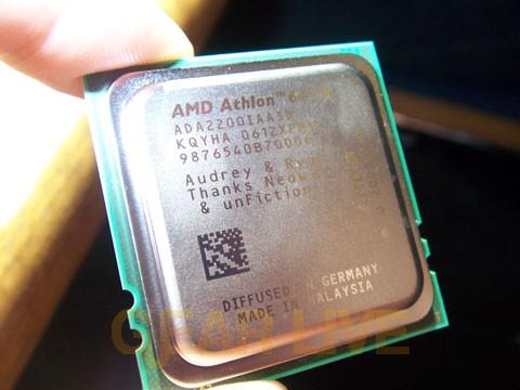 Holding AMD Vanishing Point Chip