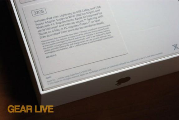 iPad mini contents list