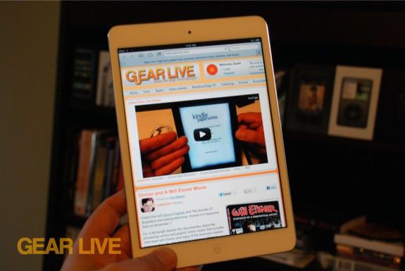 iPad mini Safari browser