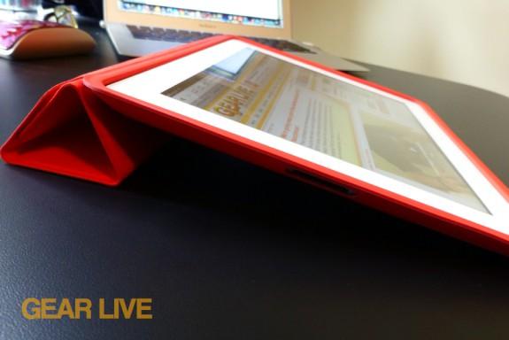 iPad Smart Case typing mode