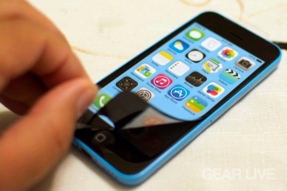 iPhone 5c front sticker removal