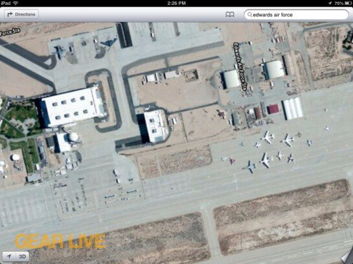 Apple Maps Edwards Air Force Base
