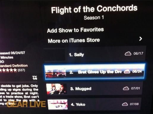 iCloud TV Streaming on Apple TV