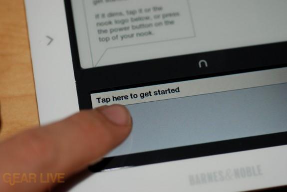 Barnes & Noble nook touchscreen