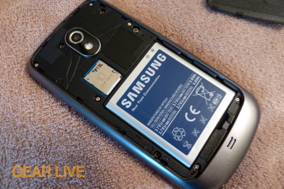 Galaxy Nexus battery inserted