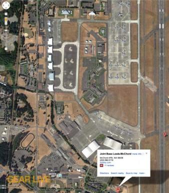Google Maps McChord Air Force Base