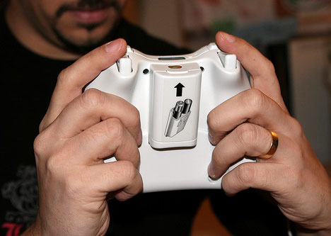 Back View of Controller with Keyboard