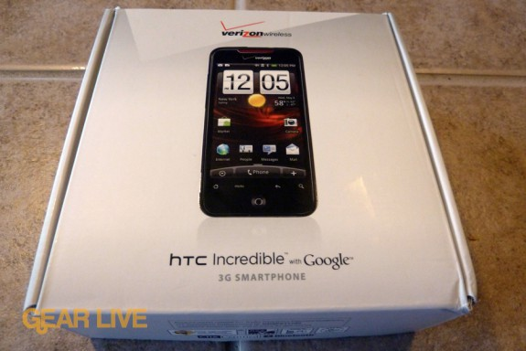 HTC Droid Incredible box front
