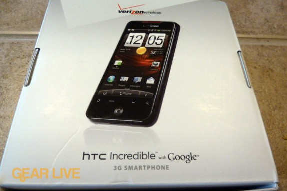HTC Droid Incredible box back