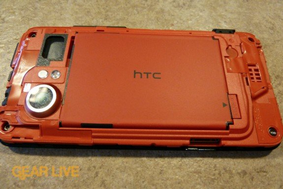 HTC Droid Incredible cover removed