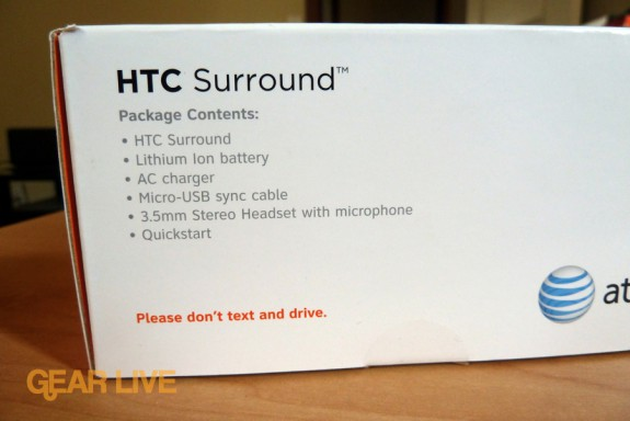 HTC Surround box contents