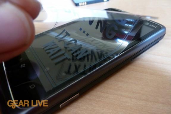 HTC Surround peeling off sticker