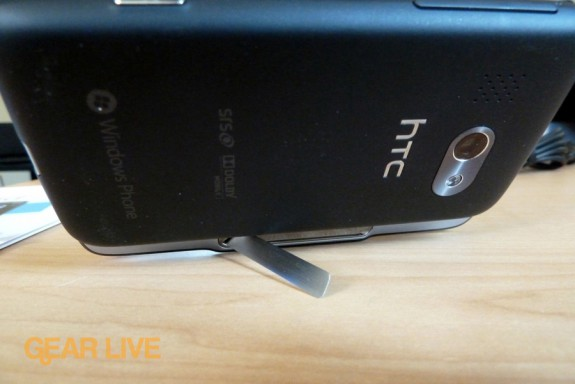 HTC Surround kickstand open