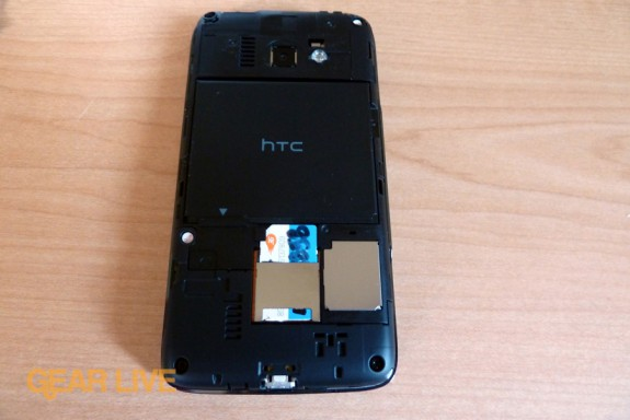 HTC Surround battery cover removed