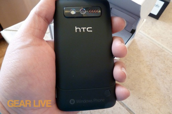 HTC Trophy rear