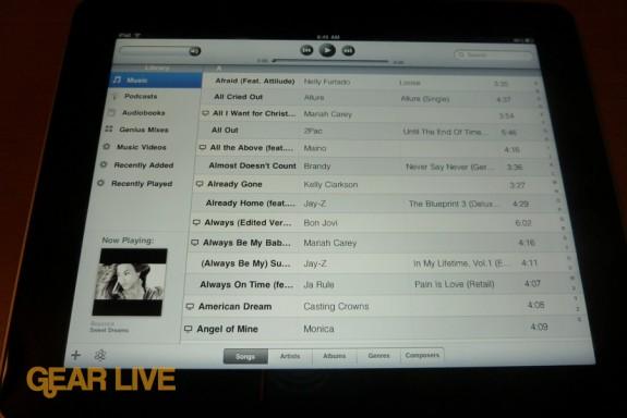iPad apps: iPod