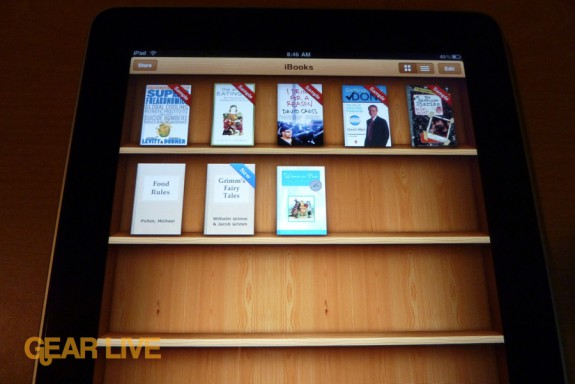 iPad apps: iBooks shelf
