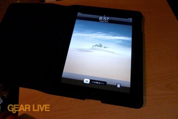 Apple iPad case: Open