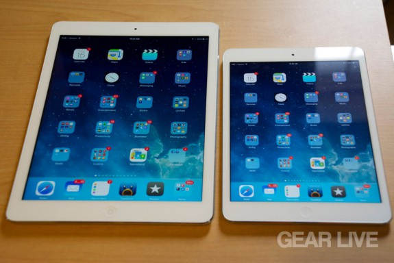 iPad Air & iPad mini Retina side-by-side