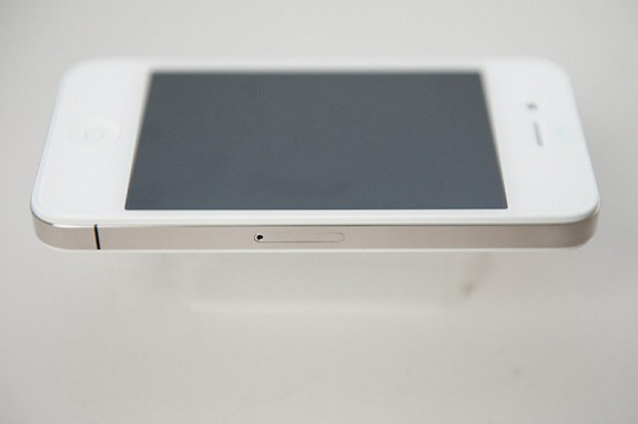 White iPhone 4 right side