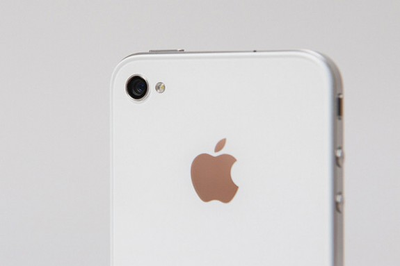 White iPhone 4 camera