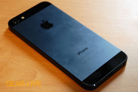 iPhone 5 black & slate rear anodized aluminum