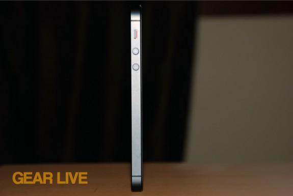 iPhone 5 black & slate side standing