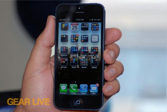 iPhone 5 black & slate Home screen